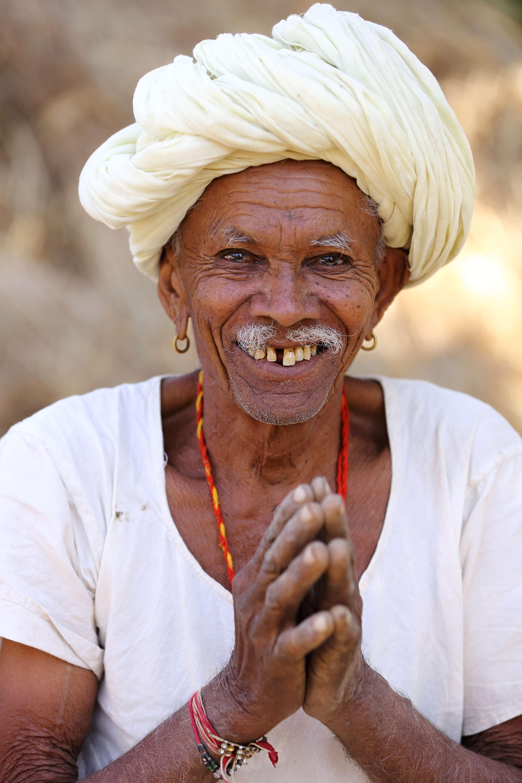 Smiling Man White Turban